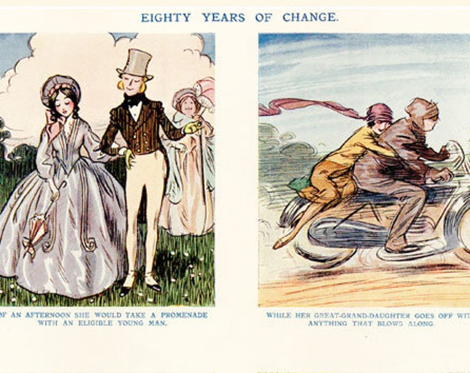 Vintage Punch cartoon, illustrated by Lewis Baumer