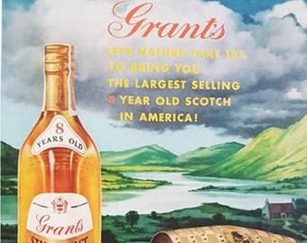 Grant's Whisky vintage advertisement
