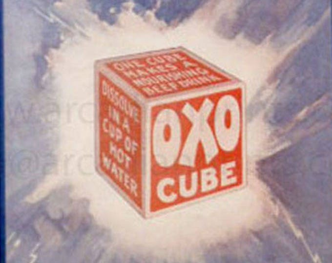 Oxo - The Mighty Atom, vintage advertisement