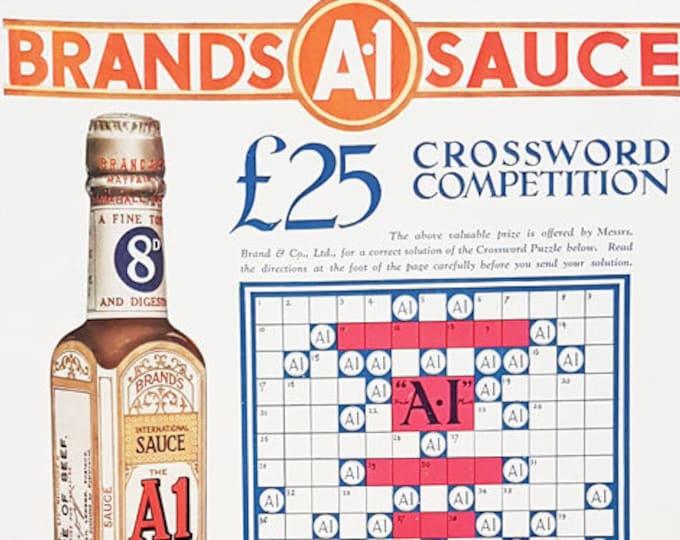 Vintage advertising print: Brand's A1 Sauce