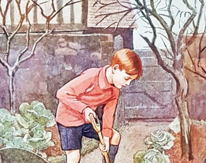 Vintage Nursery print, illustrated by Inez Topham