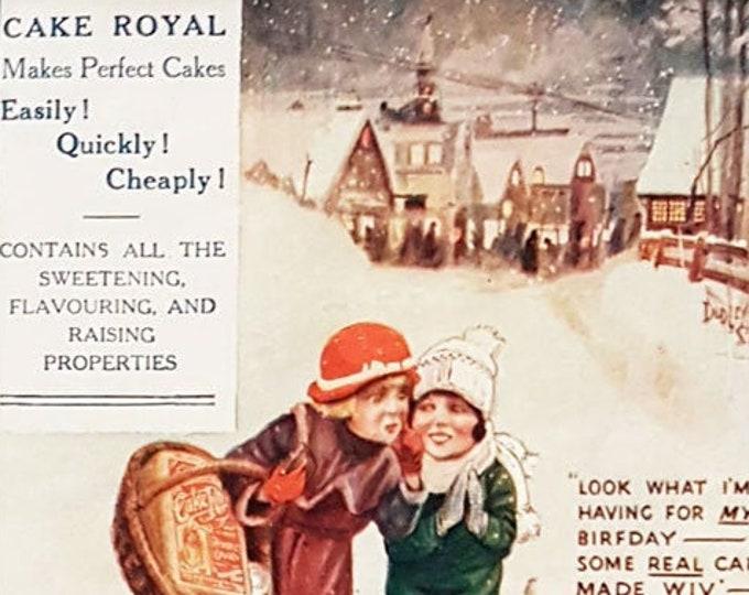 Vintage advert for Cake Royal
