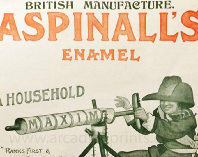 Aspinall's Enamel antique advert