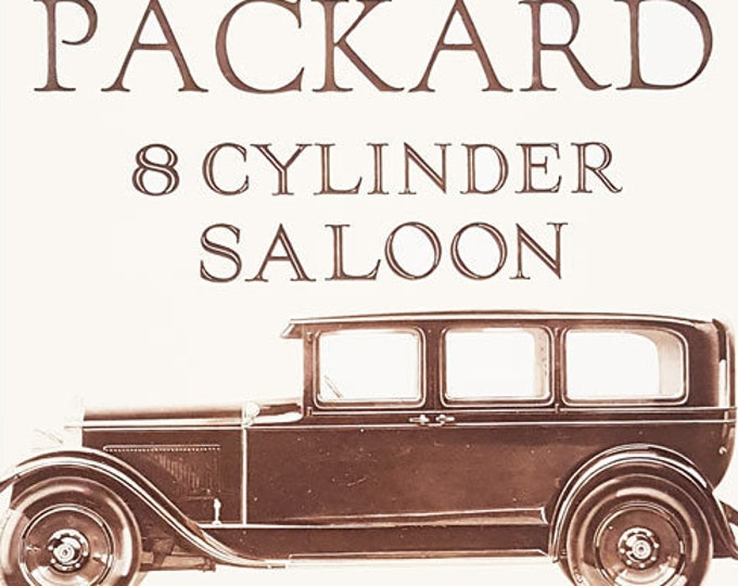 Vintage advertising print: Packard 8 Cylinder Saloon