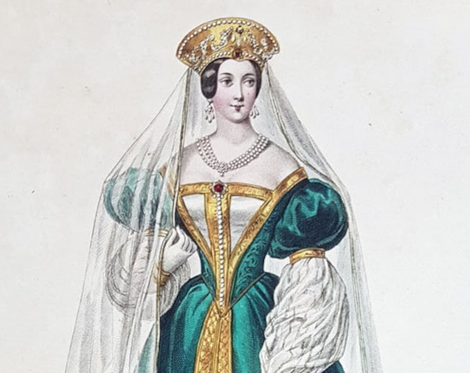 Hand-coloured aquatint of Alexandra Feodorovna