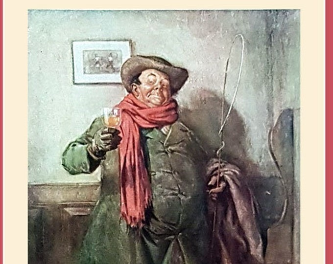 Vintage print: The Elder Mr Weller, from The Pickwick Papers by Charles Dickens.