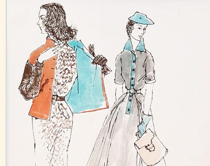 Vintage fashion print from Plaisir de France