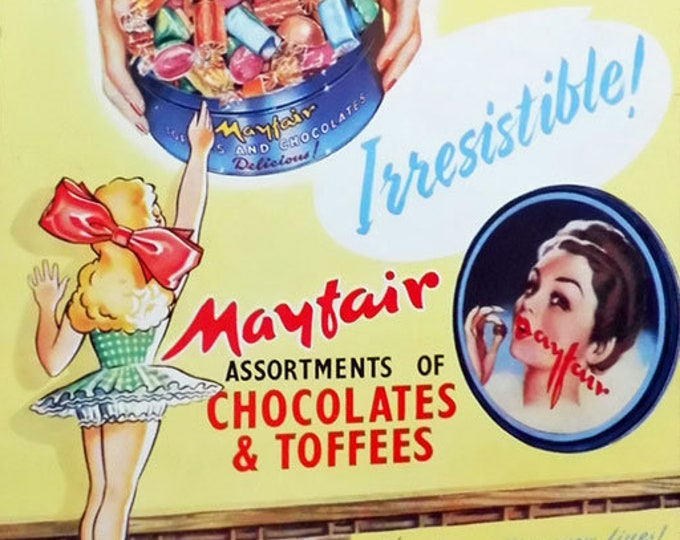 Mayfair Chocolates and Toffees vintage advert