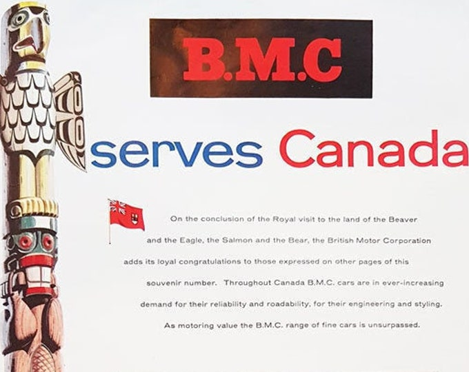 Vintage advertising print: BMC (British Motor Corporation)