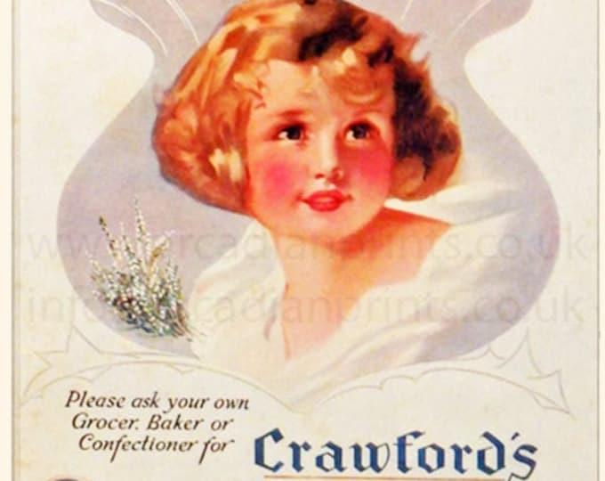 Vintage advertising print: Crawford's Shortbread