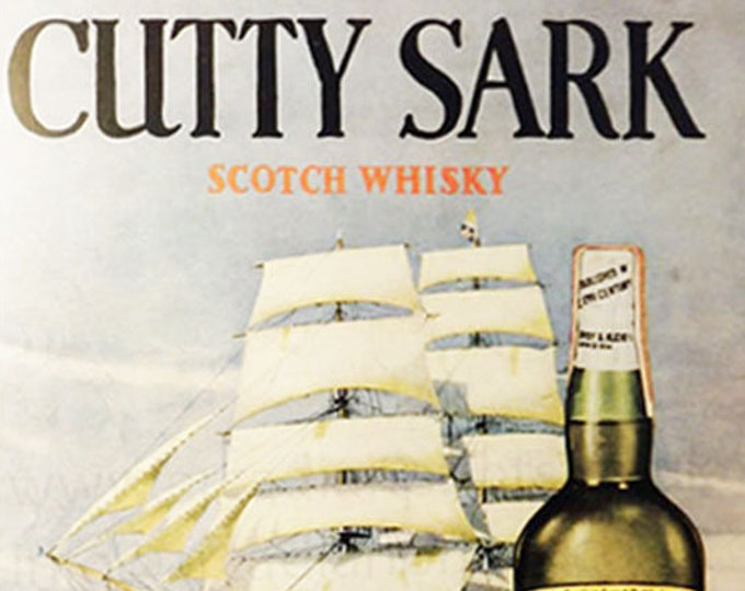 Vintage advertising print: Cutty Sark Whisky
