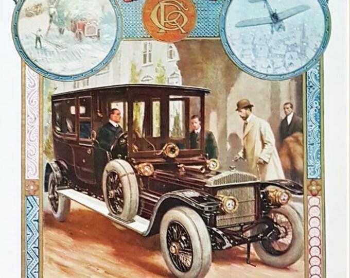 Daimler: Vintage print of George V and the petrol era