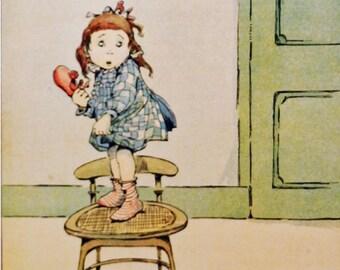 Vintage children's print, illustrated by K J Fricero