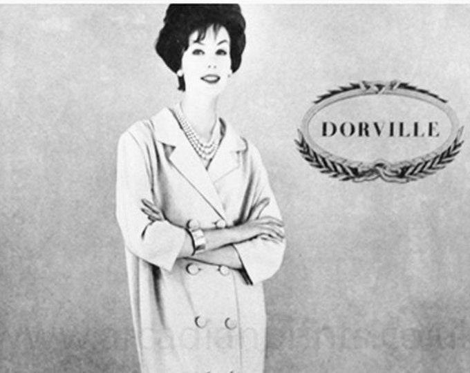 Vintage fashion advert from Harper's Bazaar