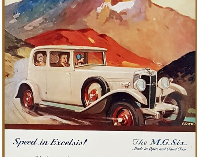 Vintage advert for the MG Car company