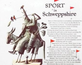 Vintage advertisement for Schweppes, Sport in Schweppeshire