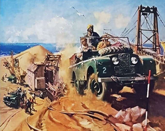 Vintage advert for the Land-rover
