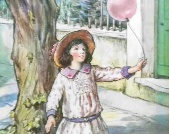 Vintage Nursery print, The Balloon
