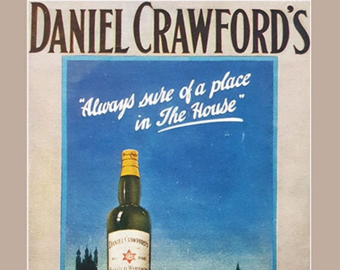 Daniel Crawford's Scotch Whisky vintage advertisement