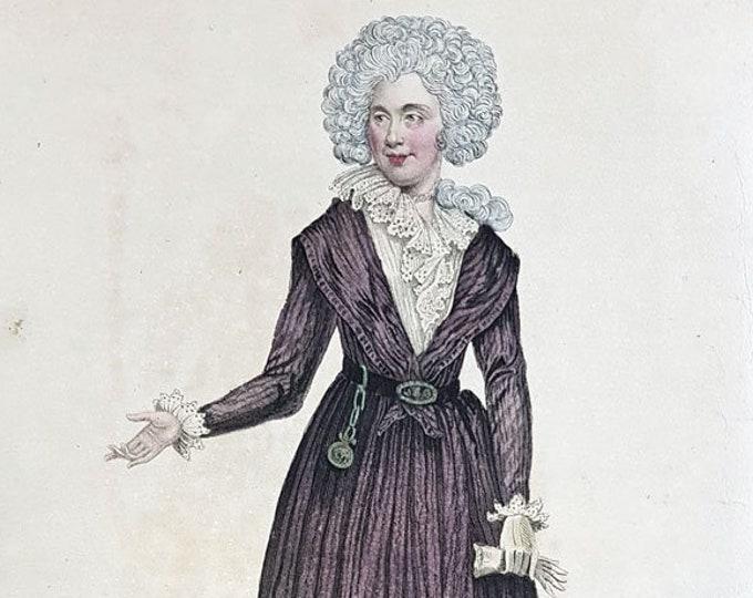 Hand-coloured aquatint of Queen Charlotte