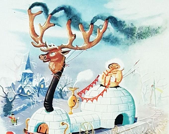 Vintage Punch Christmas cartoon, illustrated by Emett
