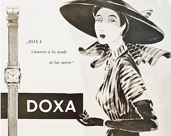 Vintage watch advert for Doxa watches