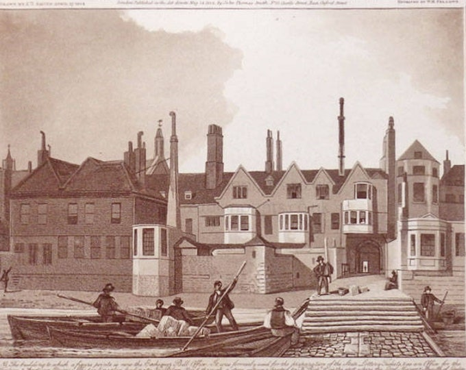 Antique architectural print, City of Westminster