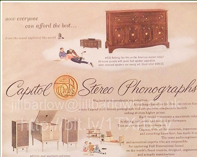 Capitol Stereo Phonographs vintage advert