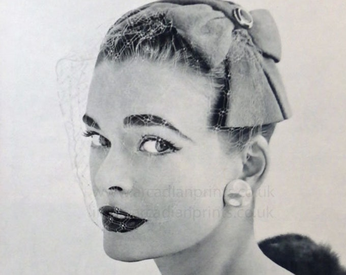 Debenham & Freebody advertisement for hats, Vintage fashion