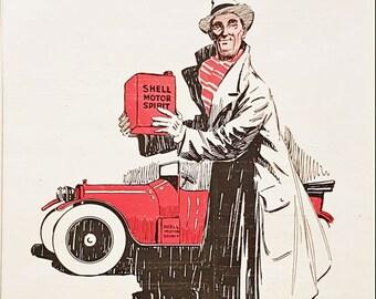 Vintage advert for Shell motor oil