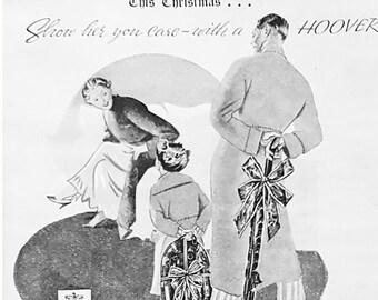 Vintage  Christmas advert for Hoover vacuum cleaner