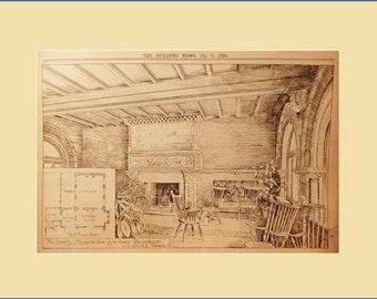 Washington, print of The Loggia at the Metropolitan Club House.