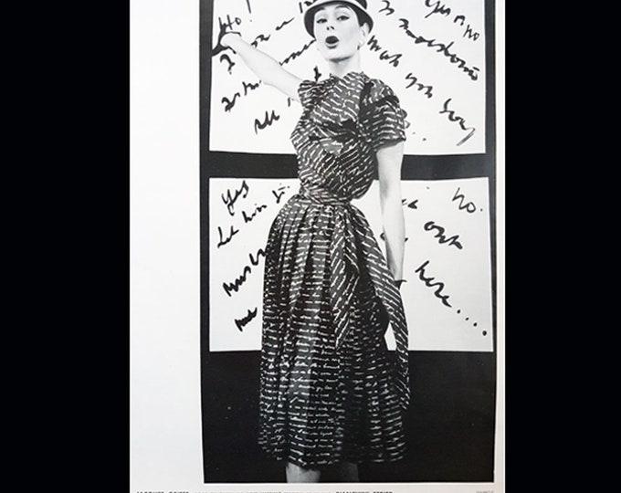 French Vintage fashion print, Jacques Griffe design