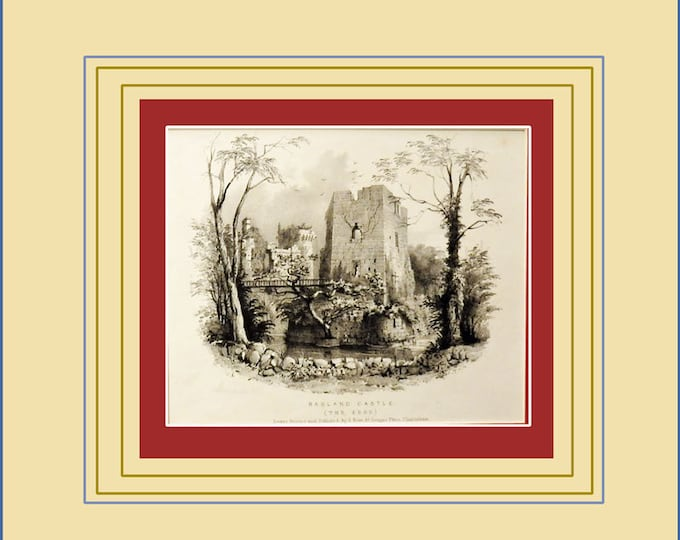 Ragland Castle, two early 19th century lithographs