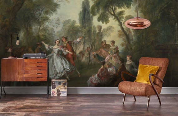 3d Oil Painting Scenery Wallpaper Removable Self Adhesive Wallpaper Wall Mural Vintage Art Peel And Stick