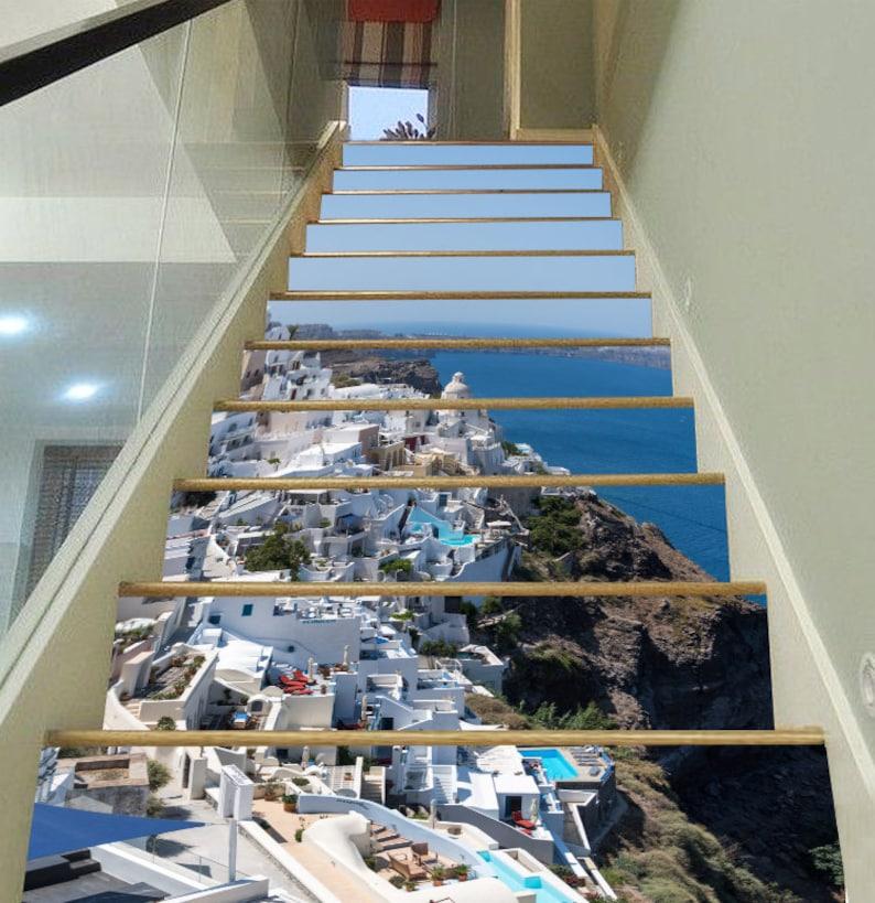 7eee596e1df2a 3D Santorini escalier élévateurs murale PVC autocollant murale