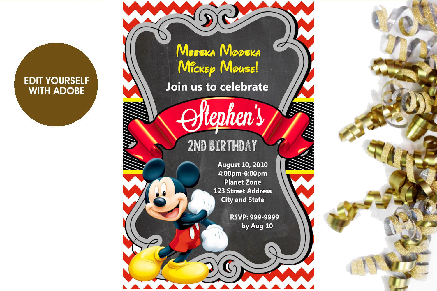 Mickey Mouse Roadster Racers Invitation Mickey and the | Etsy