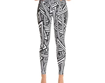 Black and White Super Elegance Yoga, Fitness, Gym, Sport Style,  AdoreDesignBoutique