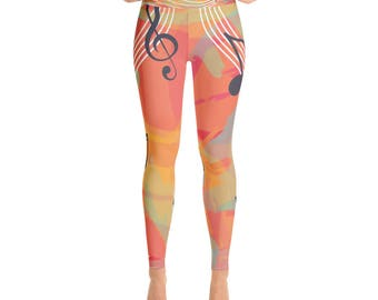 Yoga Leggings, Music Style, Women Sport Leggings, Fitness, AdoreDesignBoutique