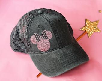 7eabbace5c7b3c Womens Minnie Mouse Hat / Mens Mickey Mouse Hat / Disney Hat / Disney  Baseball Hat / Disneyland Hat