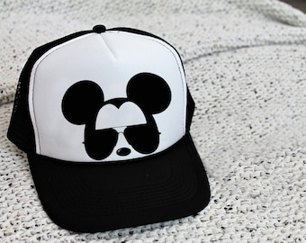 0482750a43b Adult   Kids Mickey Aviator Hat   Unisex Disney Hat   Mickey Mouse Snapback    Kids Disney Hat   Disney Trucker Hat   Disney Cap