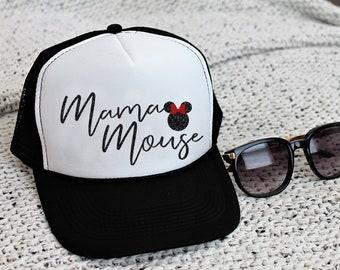 Mama Mouse Disney Trucker Hat Minnie Mouse Snapback Women s Disney Baseball  Hat b2797f368498