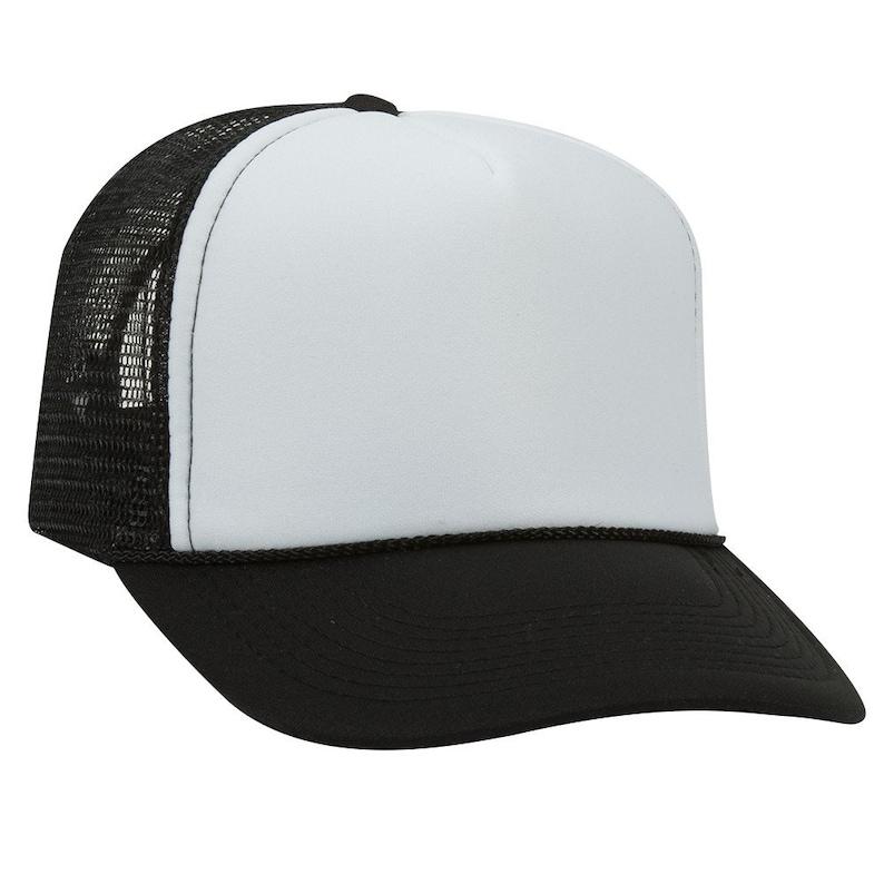 a9ff2a384f4a8a Black Trucker Hat Blank Cap Wholesale Snapback Unisex Trucker | Etsy