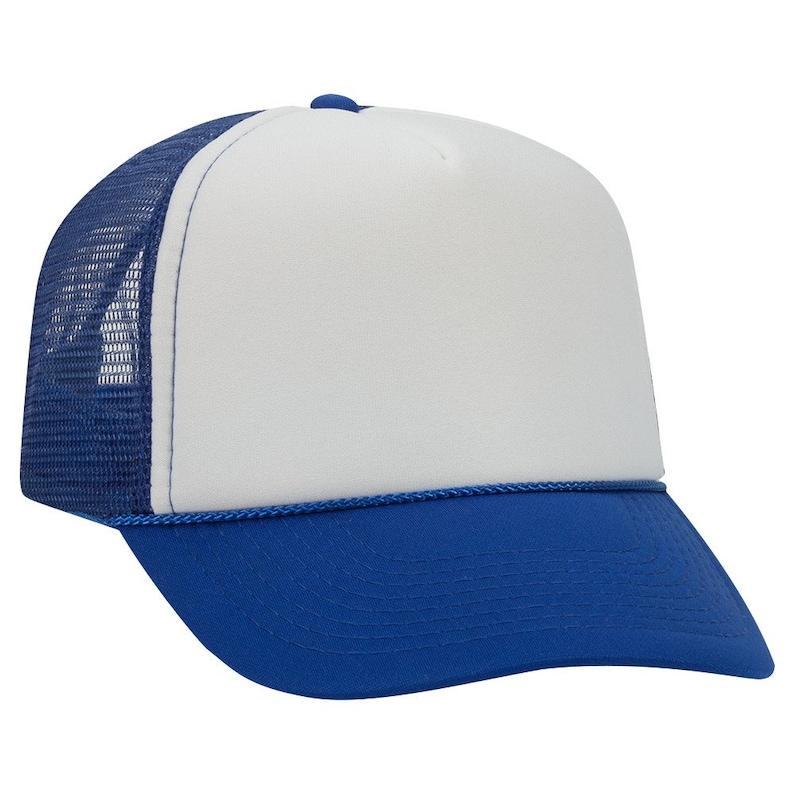 Blue Trucker Hat Blank Hat Wholesale Snapback Cap Unisex Hat