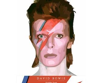 David Bowie Aladdin Sane Art Print