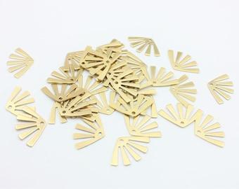 Geometric Pendant 10x32 mm Necklace Pendant 2 pcs, Raw Brass Necklace Raw Brass Charms Raw Brass Finding HM-279