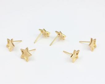 Open Bezel Star Stud Earrings, 1 x Pair with Loop, For DIY Resin Crafts Etc by Jewellery Making Supplies London ( JMSLondonCo ).