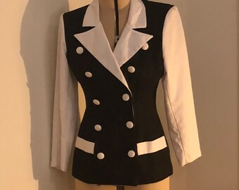 Black and White 90s Jacket Power Suit
