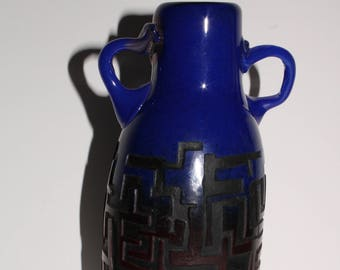 Hand Blown Heavan & Earth Maze Vase