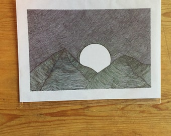 A5 original landscape print